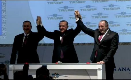 Turcia incepe lucrarile la un gazoductul TANAP. Proiectul de 10 mld. de euro va scadea dependenta UE fata de gazul rusesc