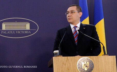 Victor Ponta, declaratii la Palatul Victoria