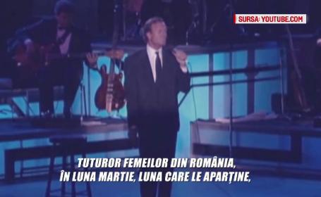 1 MARTIE si romanii. Flori, martisoare si o urare de la insusi Julio Iglesias pentru toate femeile din Romania