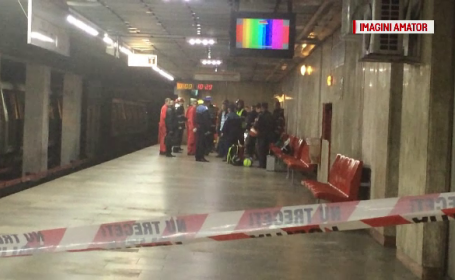 Barbatul care a murit la metrou s-ar fi sinucis. Autoritatile incearca acum sa-i afle identitatea