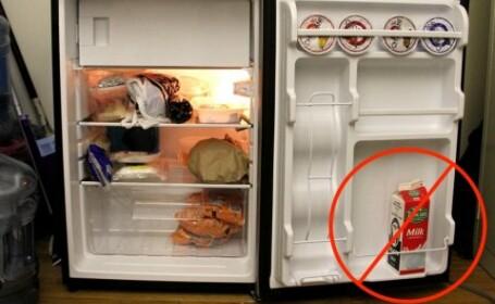 5 trucuri pentru ca alimentele sa reziste mai mult in frigider. De ce e gresit sa tinem laptele pe interiorul usii