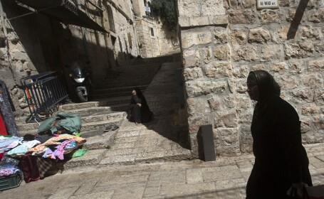 O femeie palestiniana a fost impuscata mortal de politisti, in Ierusalim. Femeia a vrut sa ii atace cu un cutit