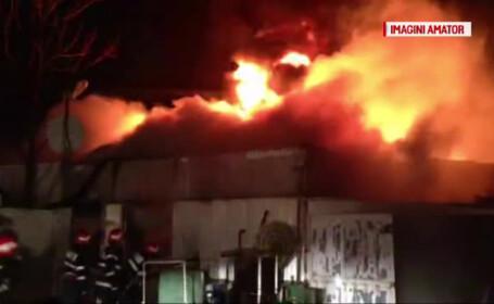 incendiu in Piata Moghioros