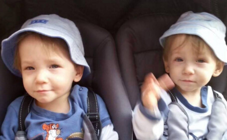 Doi baietei gemeni, in varsta de doi ani, s-au inecat intr-un lac. Drama parintilor, care erau convinsi ca se joaca in casa