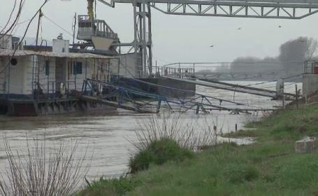 Cod portocaliu de inundatii din cauza debitului crescut al Dunarii si restrictii pentru nave. Care sunt zonele afectate