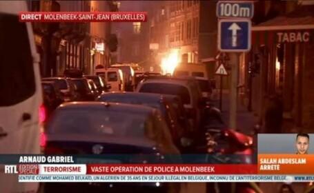 Teroristul Salah Abdeslam a fost ranit si prins la Bruxelles. Focuri de arma si explozii pe strada in timpul operatiunii
