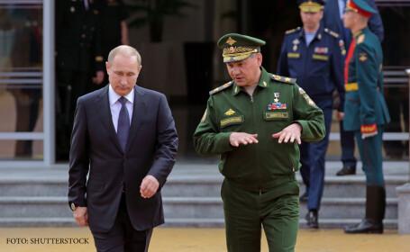 Vladimir Putin si Serghei Soigu, ministrul Apararii