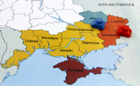 Bild: Estul Ucrainei, guvernat ca o regiune a Rusiei. \