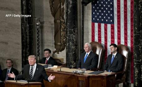 Donald Trump, primul discurs in fata Congresului. Ce a promis presedintele SUA cu privire la NATO si zidul antiimigratie