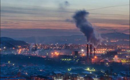 poluare Krasnoiarsk