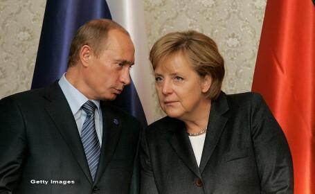 Angela Mekel, Vladimir Putin - Getty
