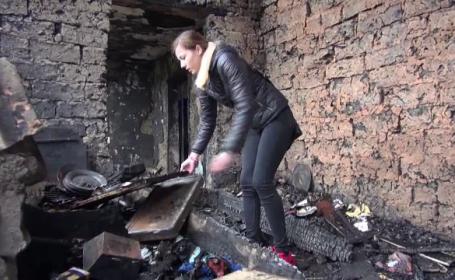 O familie cu trei copii a ramas fara locuinta dupa un incendiu devastator. \