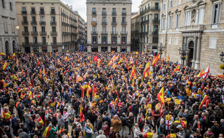 miting, protest, barcelona,