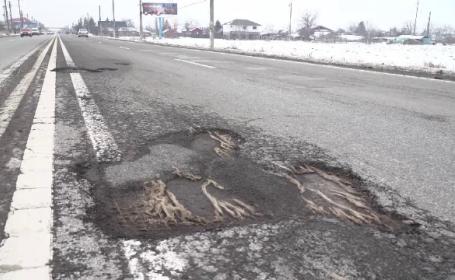 Ministrul Transporturilor spune că nu sunt bani suficienți pentru reparația gropilor