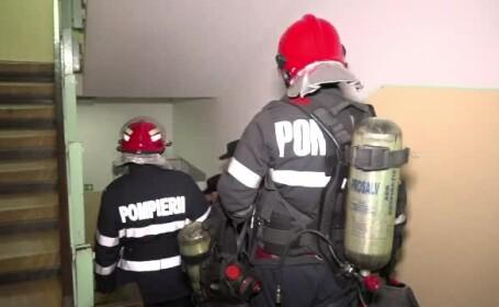 Incendiu la etajul 8 al unui bloc din Capitală