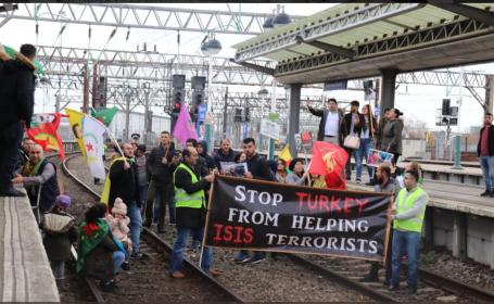 Protest gara din Marea Britanie