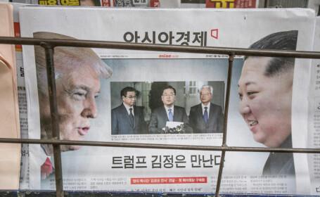 copertă ziar Kim-Trump