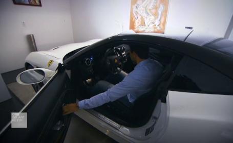 Ultima fiță. Milionarul care stă în apartament cu un Maserati, un Ferrari şi un Porsche