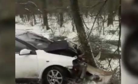Cinci accidente în Dâmbovița din cauza ninsorii și a poleiului