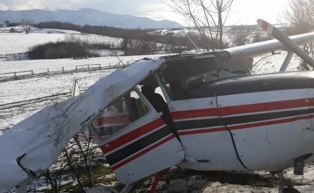 Incident aviatic la Sibiu. Un avion de mici dimensiuni a ratat decolarea