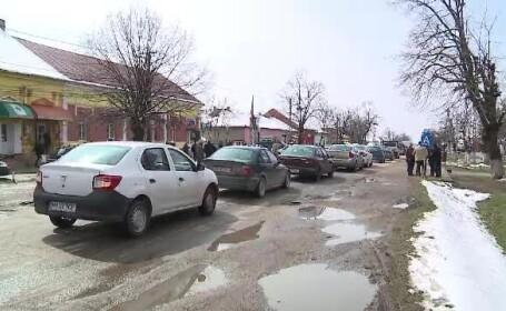 Protest în Arad din cauza unui drum nereparat de ani de zile. \