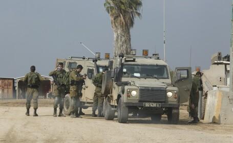 militari israelieni la granita cu fasia Gaza