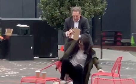 Momentul în care un milionar își izbește soția la pământ. Cum și-a scuzat gestul