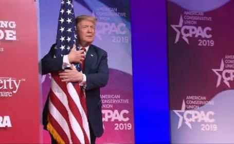 Donald Trump, discurs incendiar. A îmbrățișat din nou steagul american. VIDEO