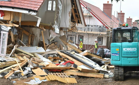 Case distruse de un român în Marea Britanie