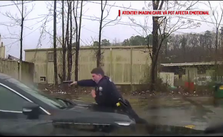 Momentul în care un polițist împușcă un șofer prin parbriz de 15 ori: \
