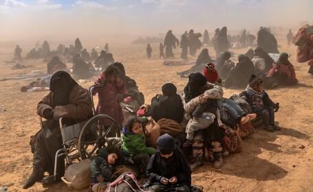 Ultimii jihadişti ISIS, printre care copii şi invalizi, dau bătălia finală. GALERIE FOTO