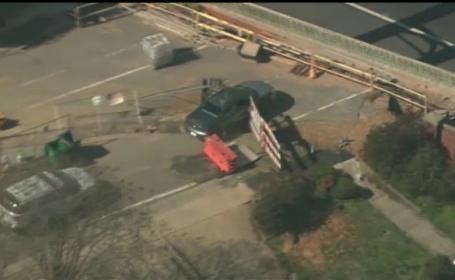 Un şofer urmărit de poliţie a ajuns din greşeală pe un şantier. Ce ascundea în maşină