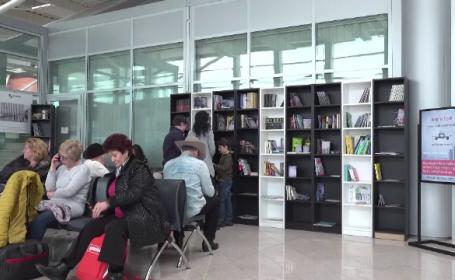 Biblioteca in aeroportul Sibiu