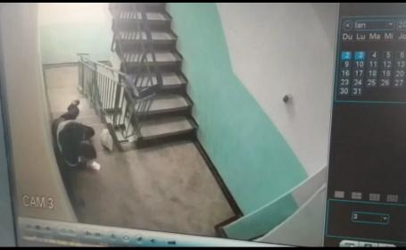 De 8 Martie, s-a aruncat singur pe scări şi i-a spus soţiei că a fost jefuit. VIDEO