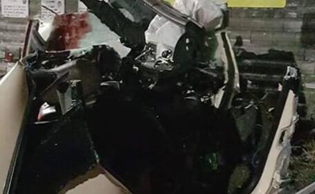 """Impact devastator. Un tânăr de 28 de ani a intrat cu viteză în """"Zidul Morții"""""""