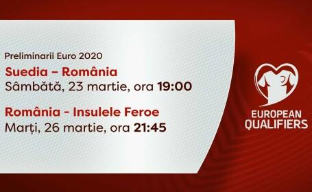 Romania Suedia insulele Feroe, EURO 2020