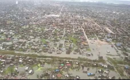 Oraș șters de pe suprafața pământului de ciclonul Idai