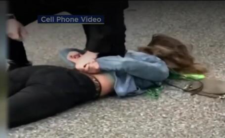 Tânără, lovită cu pumnul în față de un polițist, în SUA