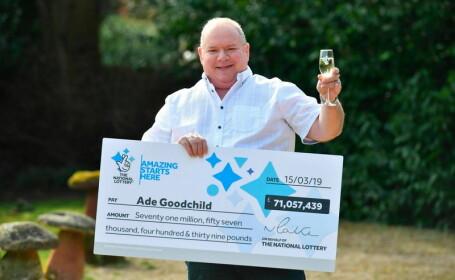 Castigatorul unui jackpot de 71 milioane de euro
