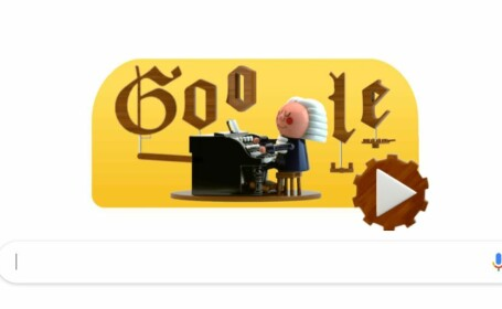Doodle Google interactiv, la 334 de la nașterea lui Bach