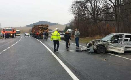 Accident cu 7 mașini în Brașov