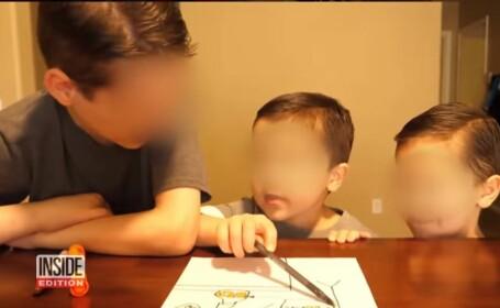 Copii, vedete pe Youtube, atacati cu spray cu piper de mama adoptiva