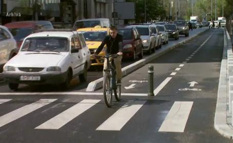 """Englezii au """"autostrăzi pentru biciclete"""", iar cicliștii de la noi merg printre mașini"""