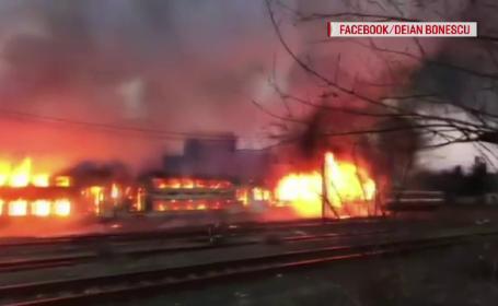 incendiu gara Oravița