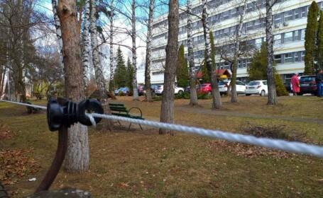 Gard electric, în jurul unui spital de urgență
