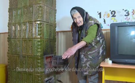 Femei de servici la grădiniță, la 83 de ani