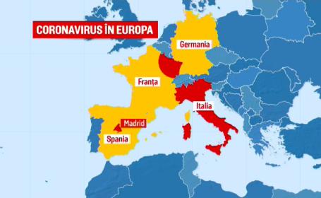 coronavirus în Europa