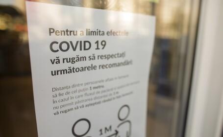 Anunturi afisate de comercianti in perioada raspandirii noului coronavirus