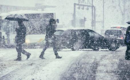 Vreme rece, astăzi, cu vânt puternic. În unele regiuni va continua să ningă