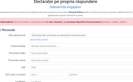 aplicatie, documente